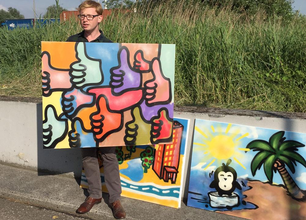 Graffiti workshop sociaal wijkteam Leiden