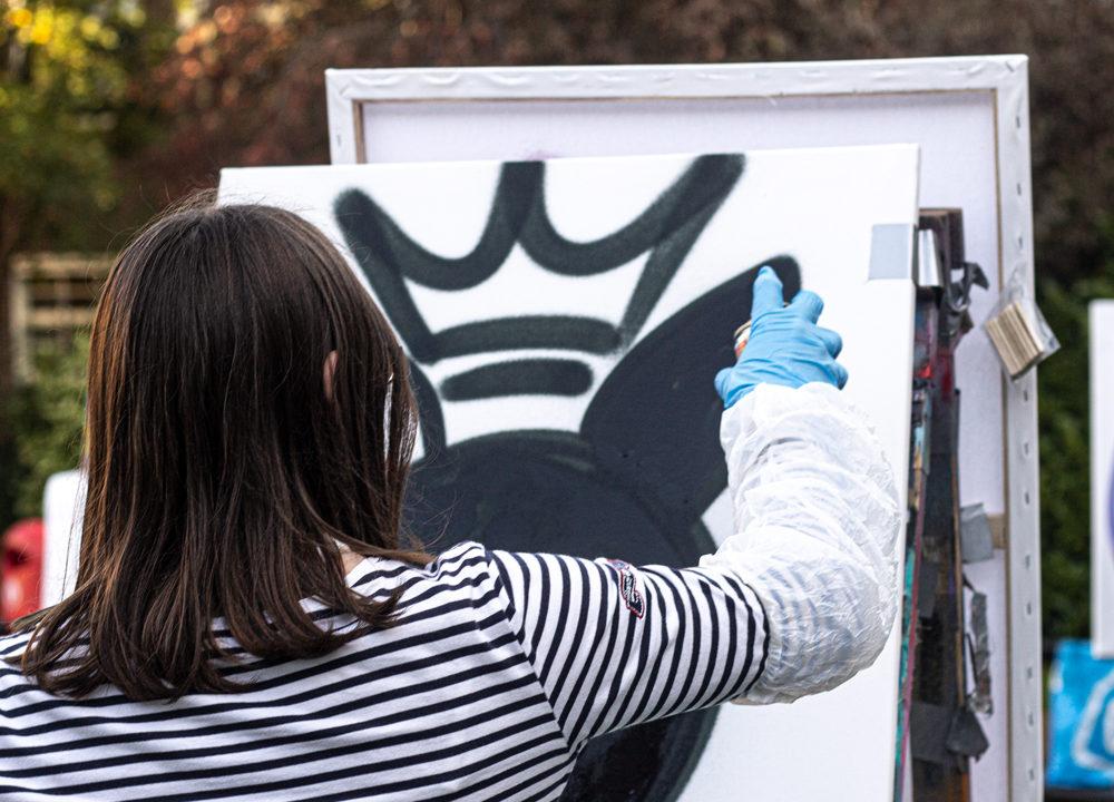 Graffiti workshop Visser 't Hooft