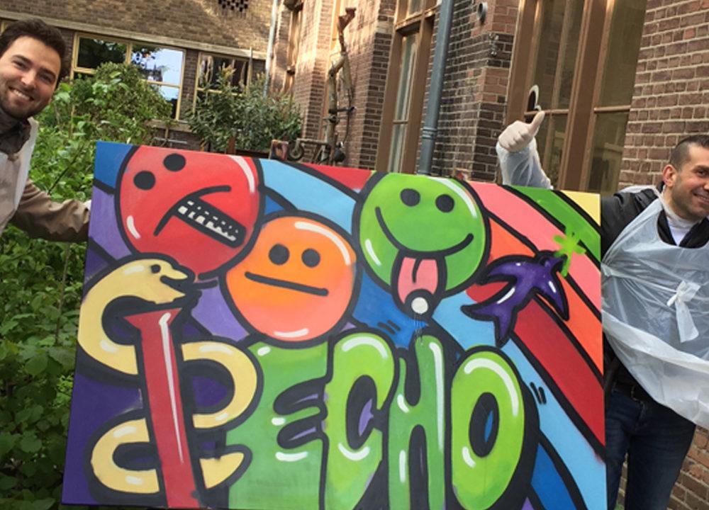 Graffiti workshop Echo Pharmaceuticals B.V.