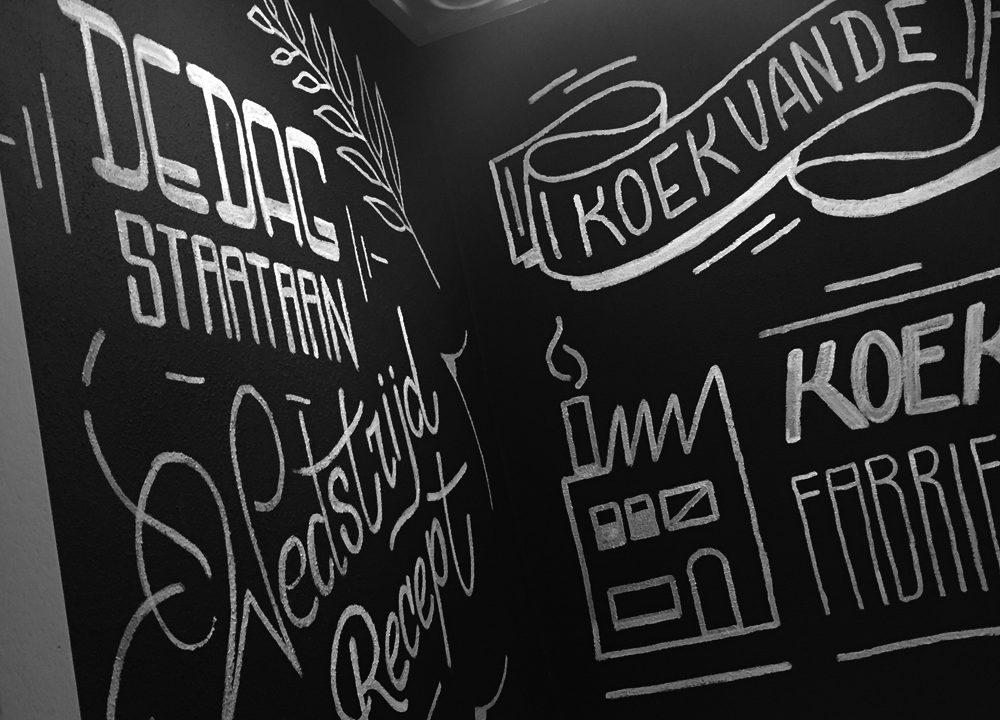 Schildering Brasserie Buitenhuis