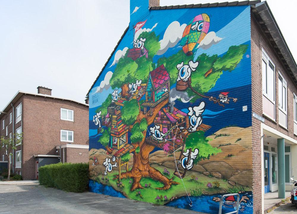 Muurschildering Boshuizerkade