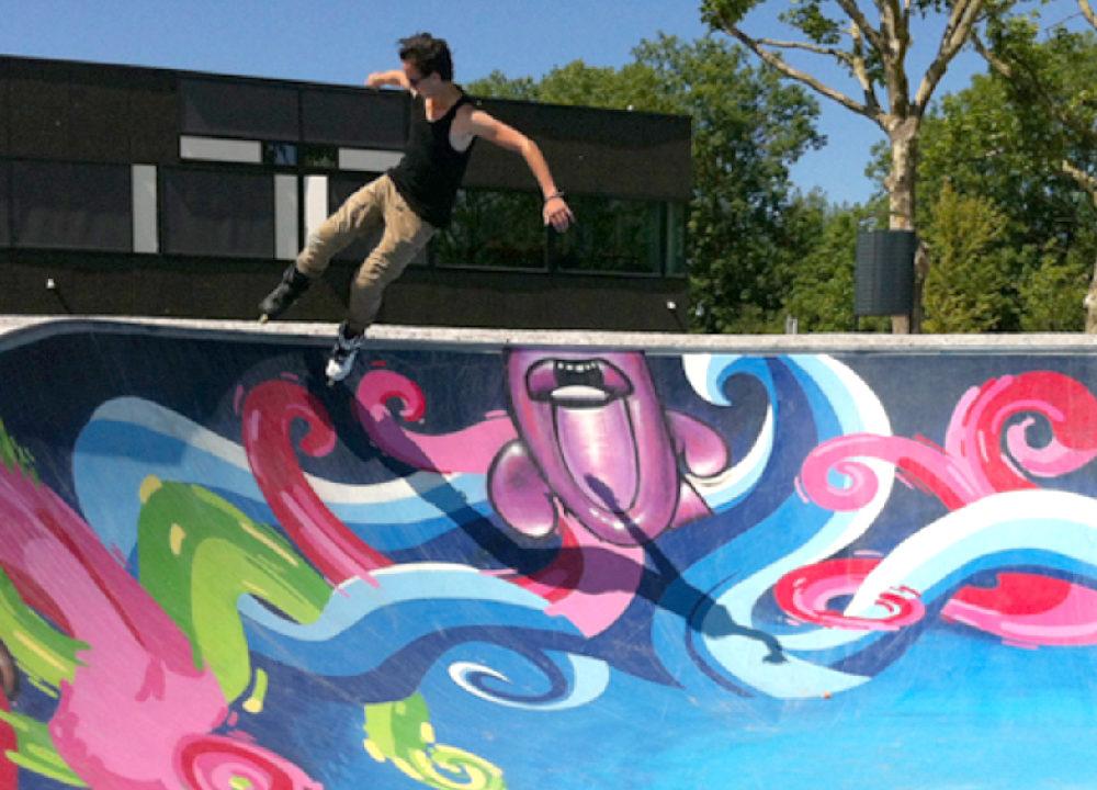 Schildering skatebaan
